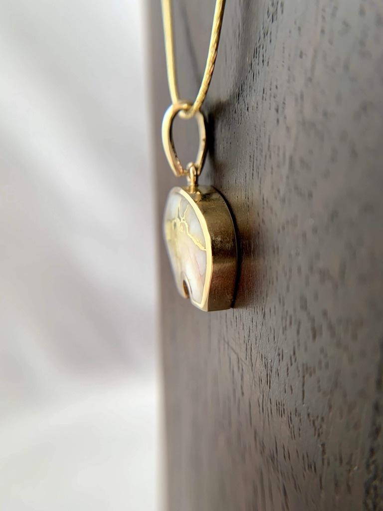 - Bear 22K Gold in Quartz Pendant - (#203)