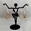 """Fossil Mammoth Ivory Earrings"" (#208)"