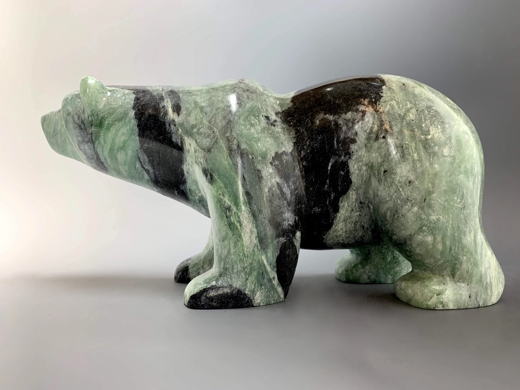 """Pete"" Soapstone Polar Bear Sculpture (#249)"