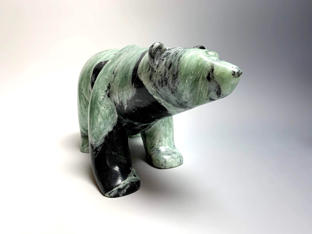 """Penelope"" Soapstone Polar Bear Sculpture (#248)"