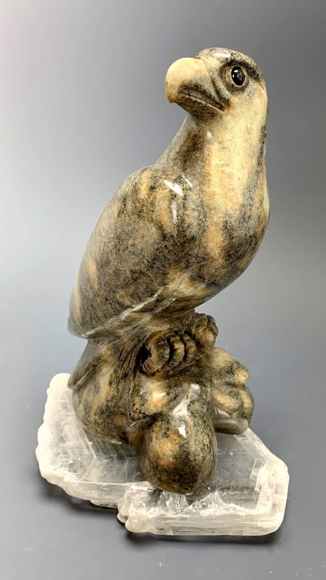 """Eagle"" Soapstone Carved Sculpture (#231)"