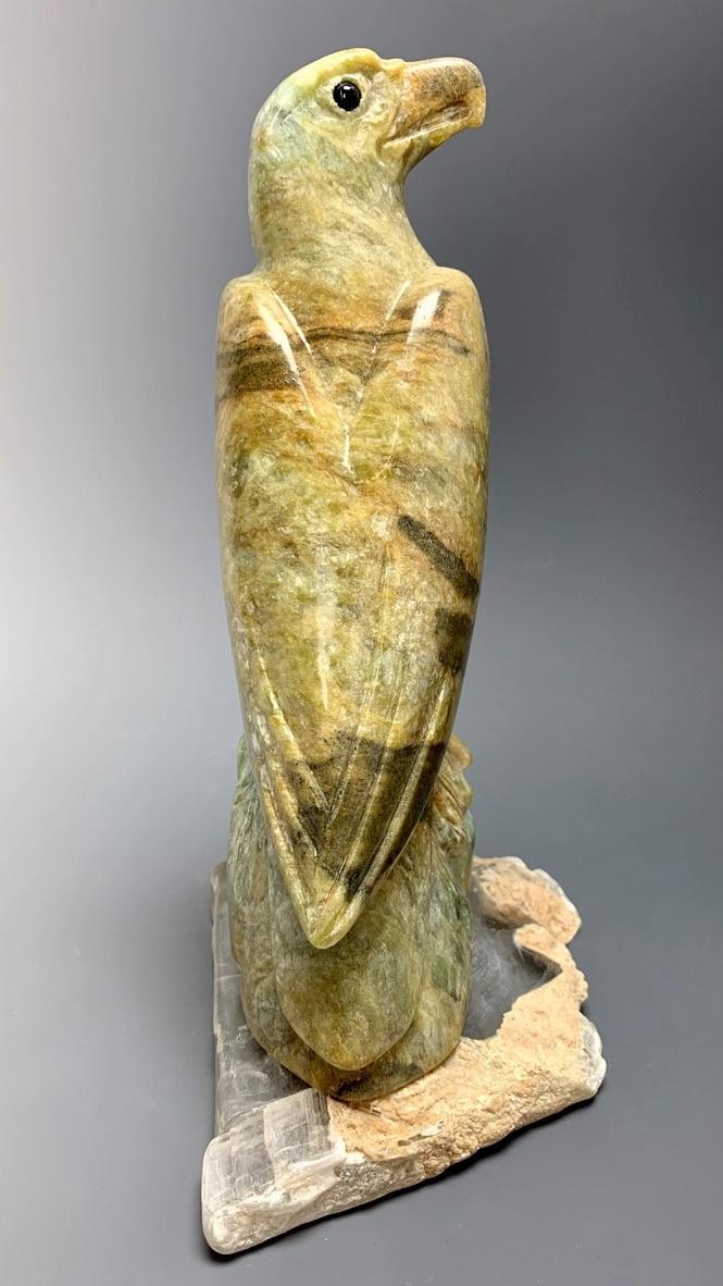 """Eagle"" Soapstone Carved Sculpture (#232)"
