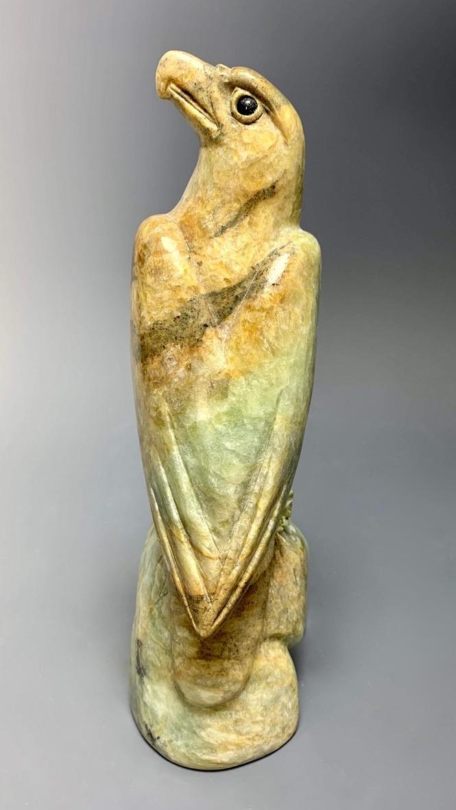 """Eagle"" Soapstone Carved Sculpture (#233)"