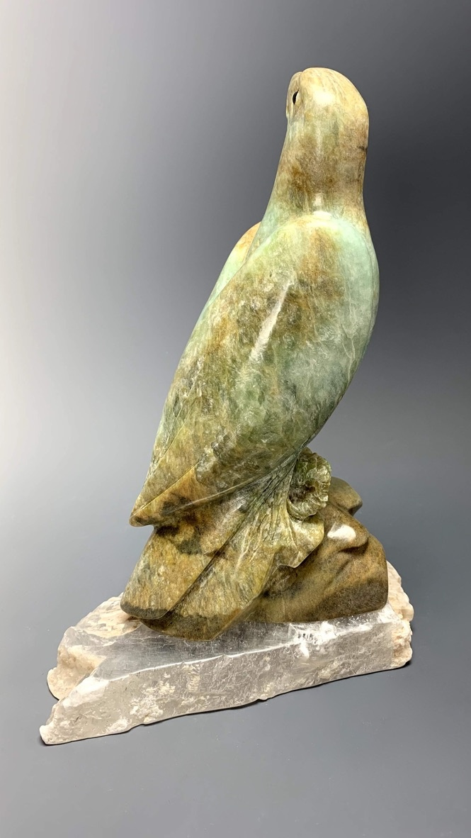 """Eagle"" Soapstone Carved Sculpture (#234)"