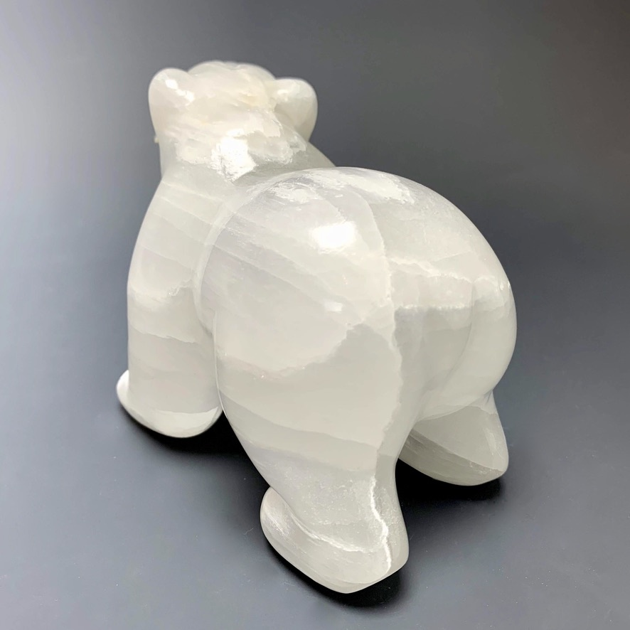 - Sara- Selenite Carved Bear Sculpture  #224
