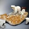 Sara- Selenite Carved Bear Sculpture  #224