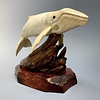 - Harold- The Humpback Whale Carved from Fossilized Walrus Jawbone Sculpture #226