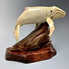 """""""Harold"""" Humpback Whale Carved from Fossilized Walrus Jawbone Sculpture (#226)"""