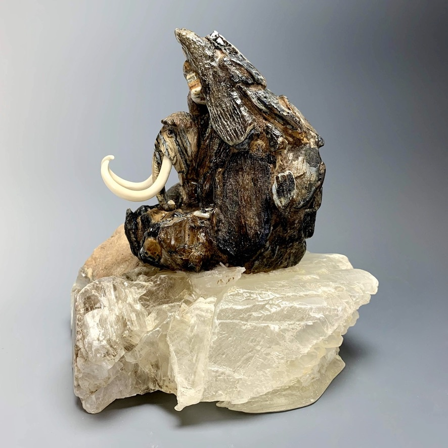 """Marty"" Fossilized Mammoth Tooth Carved Sculpture (#229)"