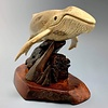 - Helen - The Humpback Whale Carved from Fossilized Walrus Jawbone Sculpture #228