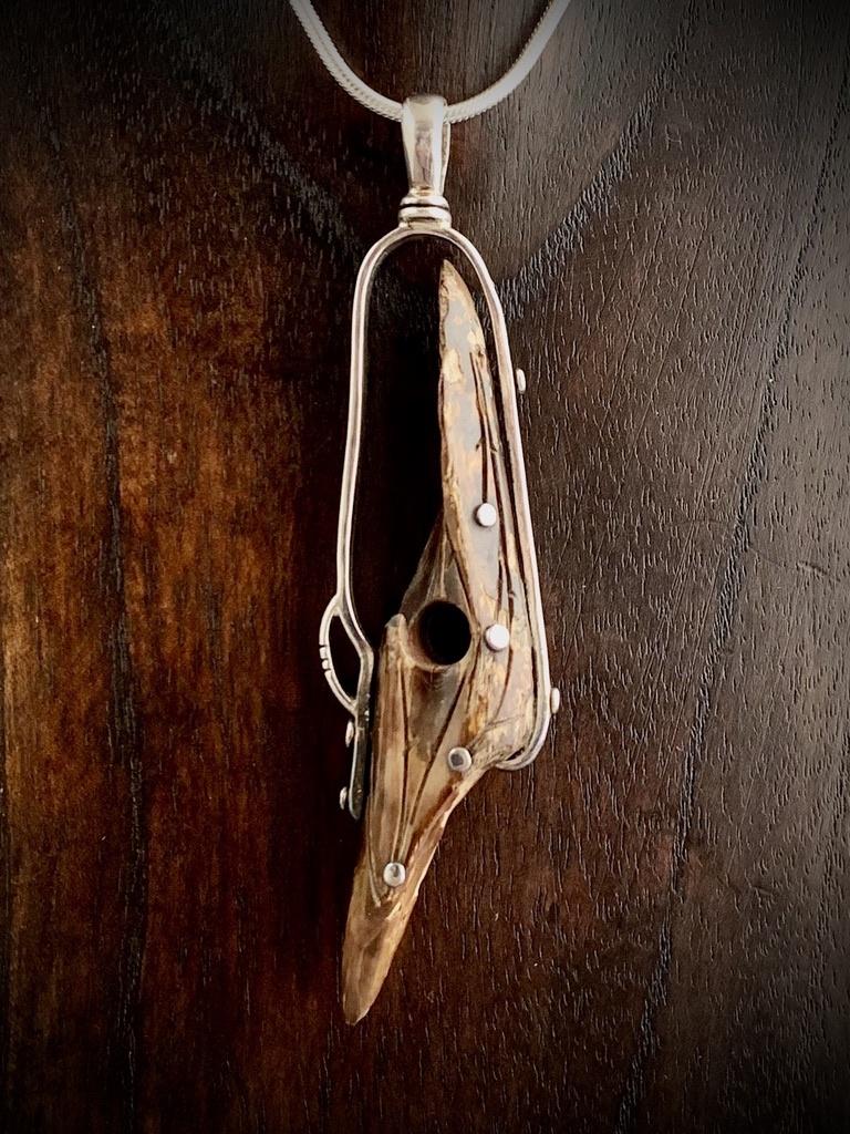 - Fossil Walrus Artifact Pendant #241