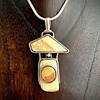 -Little Tree Pendant Fossil Walrus Ivory #246