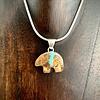 Bear Boulder Turquoise Pendant #252-SOLD