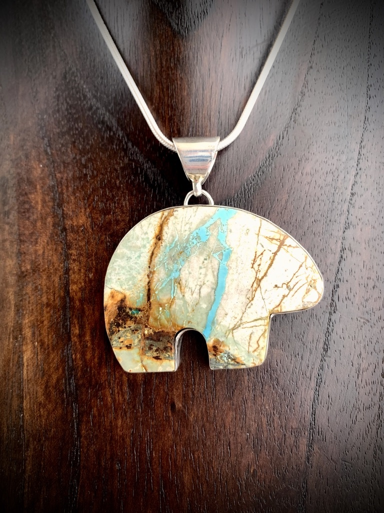 Bear Boulder Turquoise Pendant #253