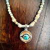 Ocean Jasper, Fossil Walrus, Turquoise Necklace #254