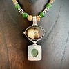 Desert Jasper,Alaskan Jade, and Fossil Necklace #259