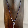 Lapis and Fossil Walrus Ivory Necklace - #260