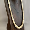 - Fossil Mammoth Ivory Bead Necklace #261