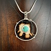 Fossil Walrus Ivory and Turquoise Pendant #285