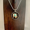 - Fossil Walrus Ivory and Turquoise Pendant #285