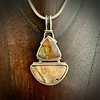 - Fossil Mammoth Tooth and Jasper Pendant #286