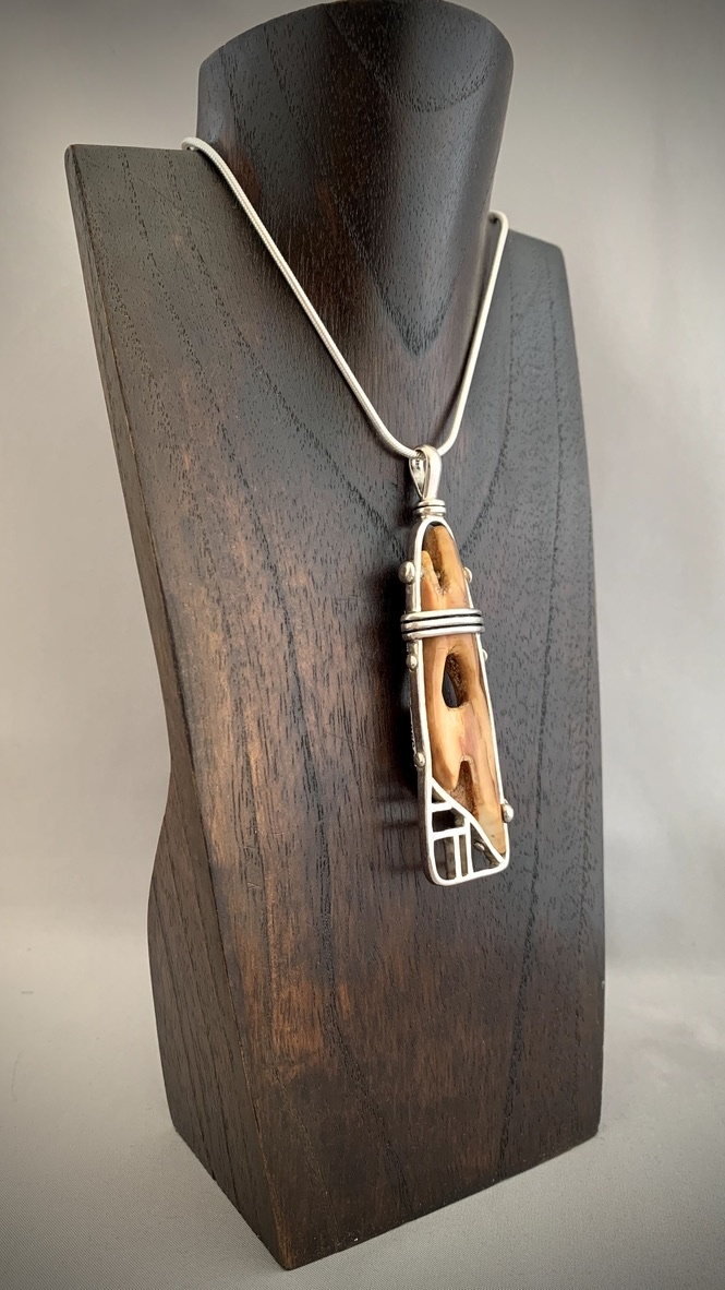 - Artifact Pendant - Fossil Walrus Ivory #293 - SOLD