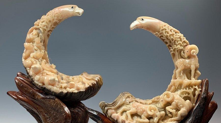 Sheep Horn Sculptures