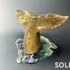 - Whale Fluke -  Soaptone Sculpture #137