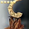 Walking Mammoths - Sheep Horn Sculpture #122