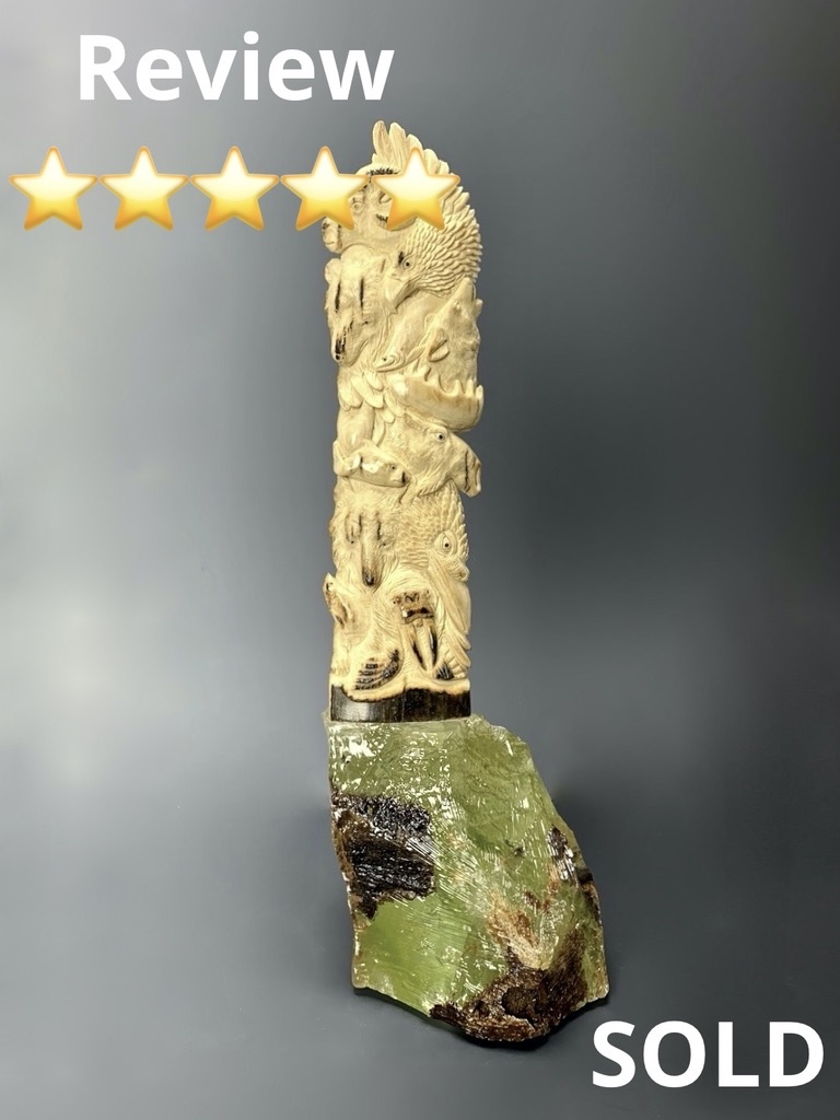 Wildlife - Fossil Mammoth Ivory Carving #141