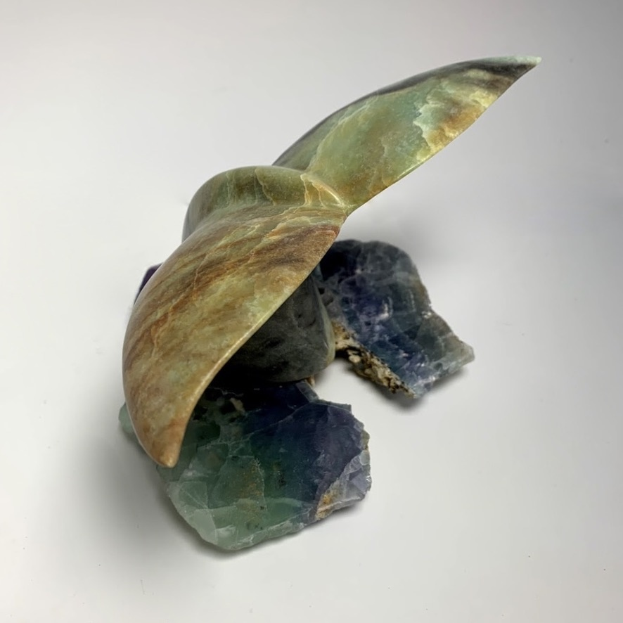 -Whale tail Soapstone Carving #136