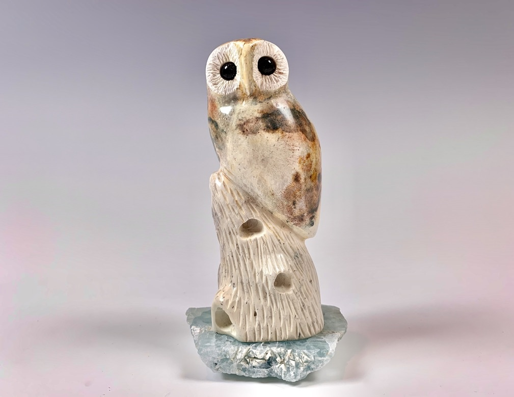 Oscar - The Soapstone Owl #348