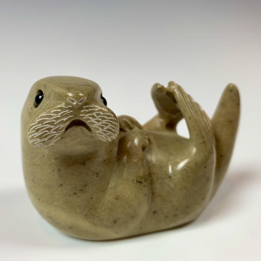 - Sebastian -Soapstone Sea Otter #336