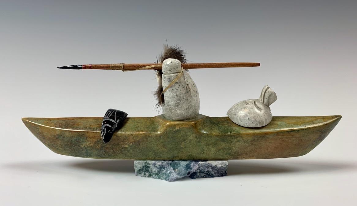 - Kayaker - Soapstone #356