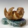 Sasha -Soapstone Sea Otter #334