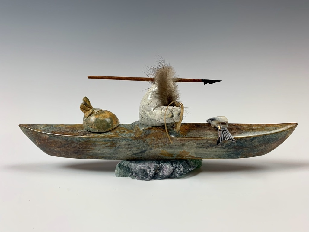 - Kayaker - Soapstone #357