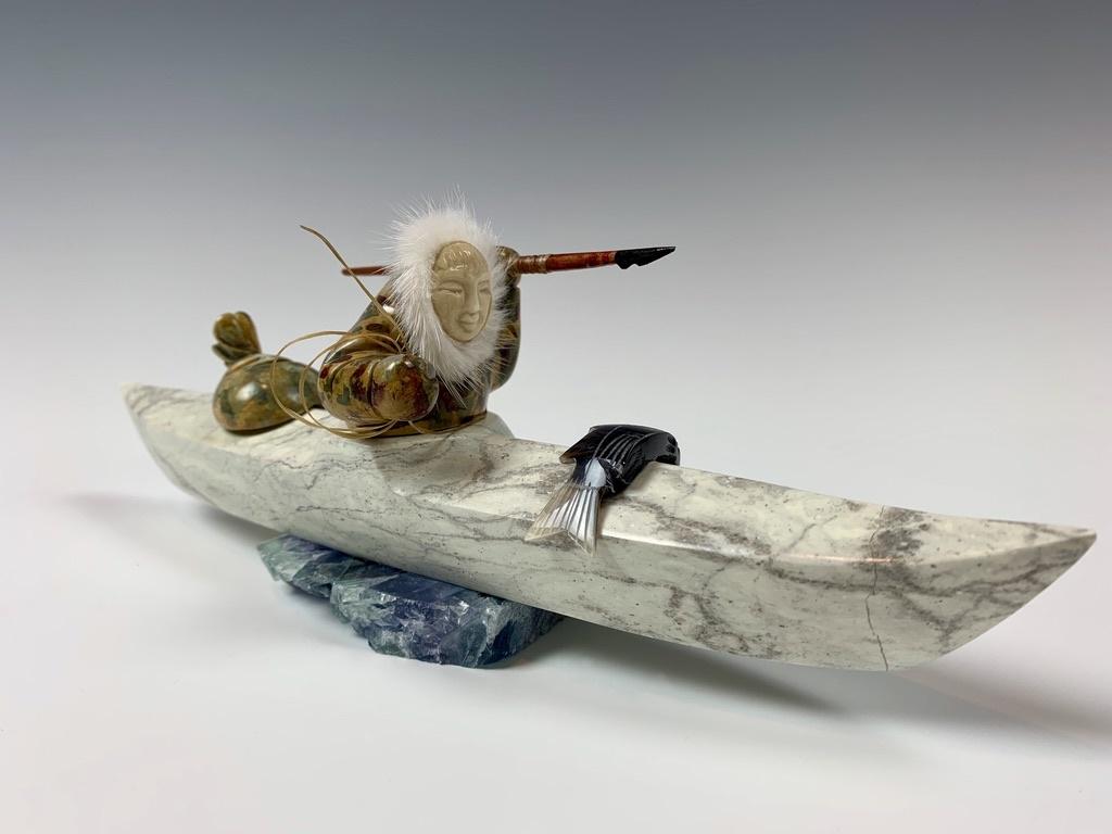 - Kayaker - Soapstone #358