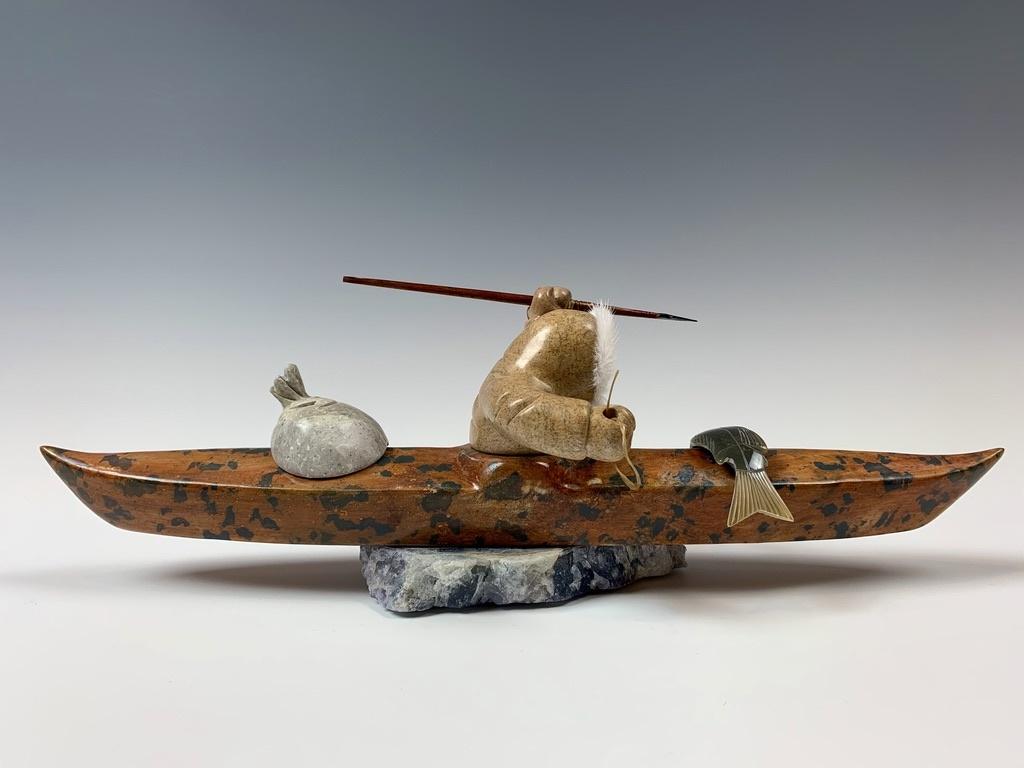 Kayaker - Soapstone #360