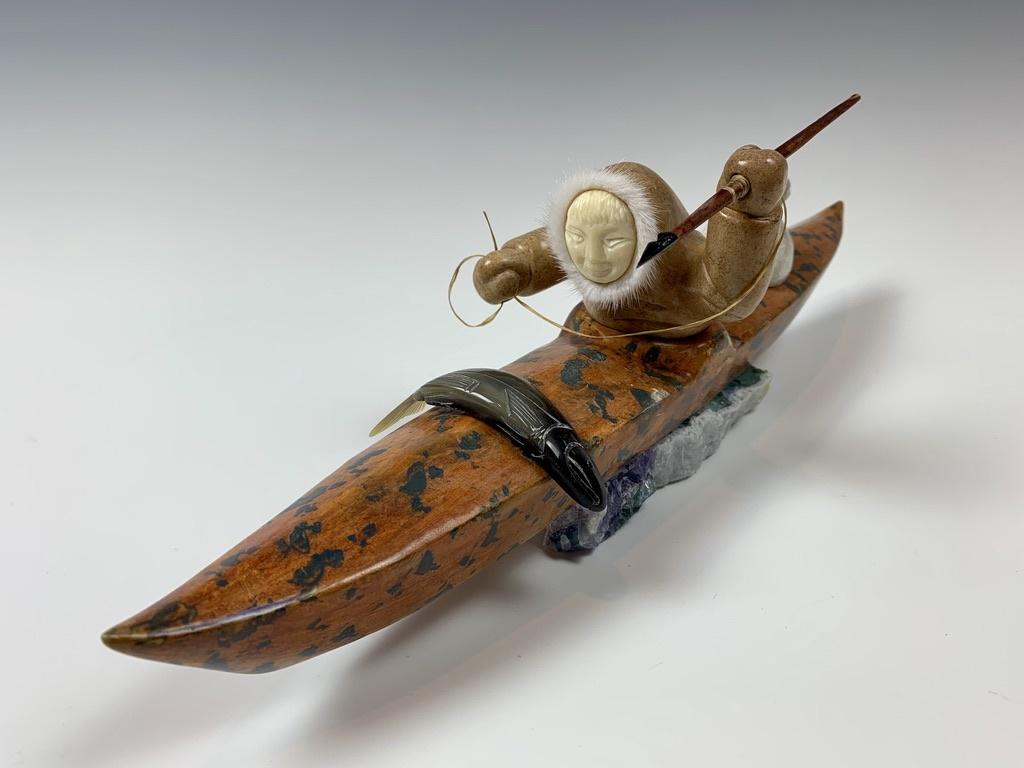 - Kayaker - Soapstone #360
