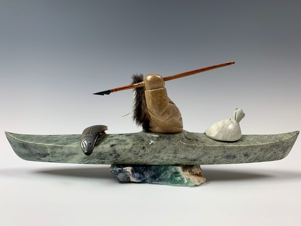 Kayaker - Soapstone #361-SOLD