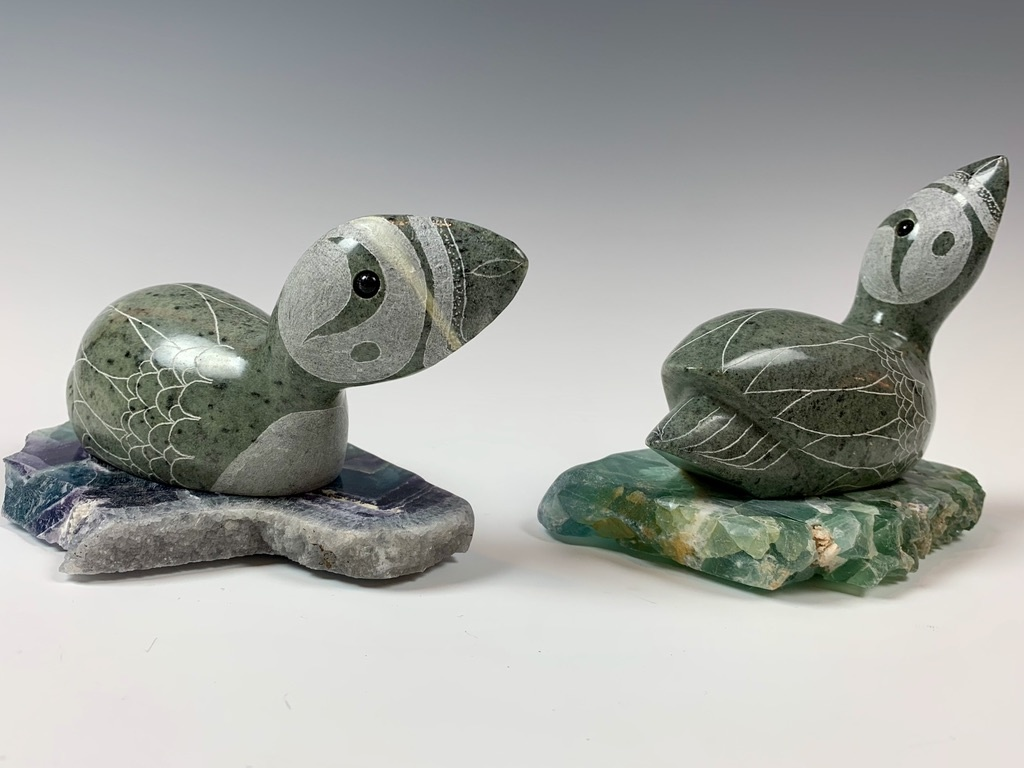 Peter - Soapstone Puffin #345