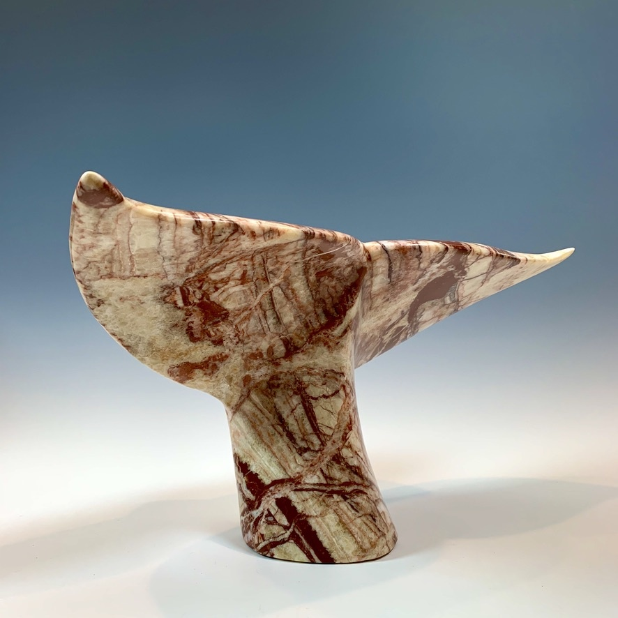 Whale Fluke - Marble Sculpture # 372