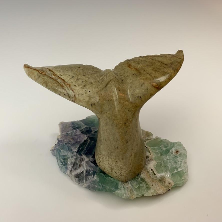 - Whale Fluke - Soapstone Sculpture #328