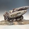 Spawning Salmon - Marble Sculpture #376