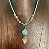 - Turquoise and Fossil Walrus Ivory Necklace #384