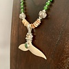 - Alaskan Jade and Fossil Mammoth Ivory Necklace #388