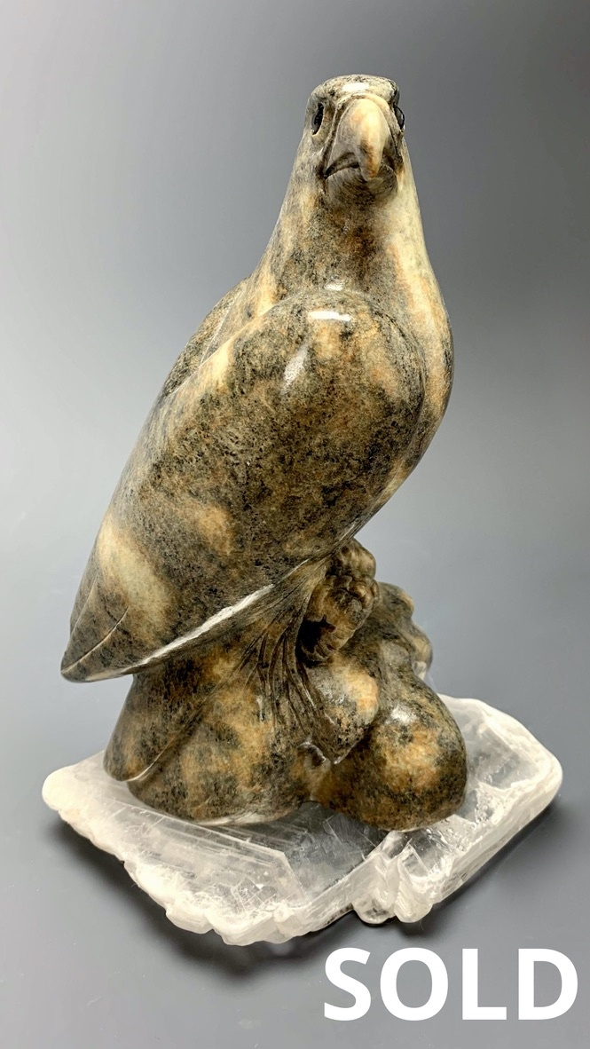 - Eagle - Soapstone Carved Sculpture #231