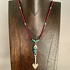 - Fossil Walrus Ivory and Turquoise Necklace #387