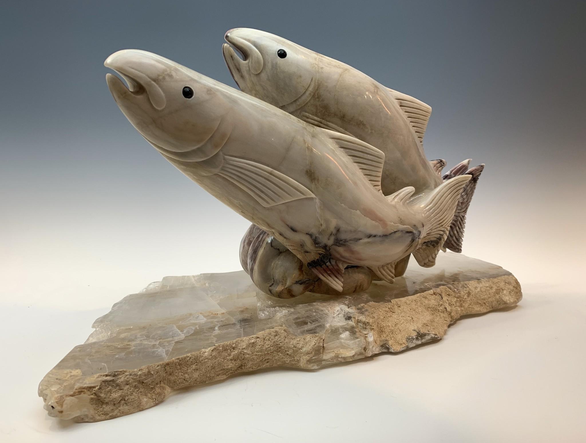 Salmon - Marble Sculpture #382