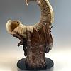 Mammoths - Alaskan Dall Sheephorn Sculpture #394-SOLD